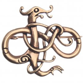 Viking Brooch, dragon pattern, 40 * 46 mm