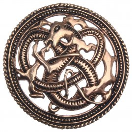 Viking Brooch Firedrake, 49 mm
