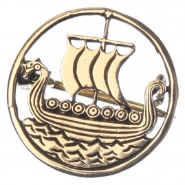 Viking Brooch Dragon Boats, 25 mm