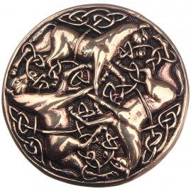 Celtic fibula Three horses, 48 mm