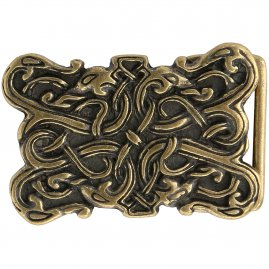"Belt Buckle ""Serpent beings"" in the Urnes style of the Vikings"