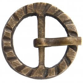 Brass buckle No. 4, Late Middle Ages