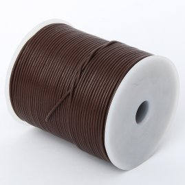 Round leather cord from goatskin, 100m