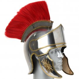Attic helmet with plume