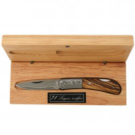 Beautiful Damascus knife in gift box