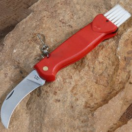Mushroom Picker's knife with brush for mushroom cleaning on the spot