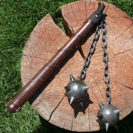 Flail with steel balls