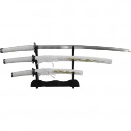 Samurai swords White Dragon, 4 Piece Set