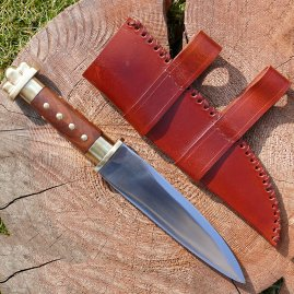 Short seax with brass guard and pommel
