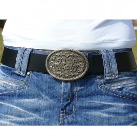 Belt with decorative buckle