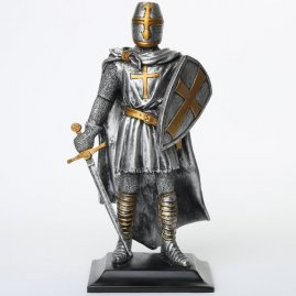 Figure with kite shield and with sword