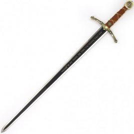 Templar sword with wall plaque decorative
