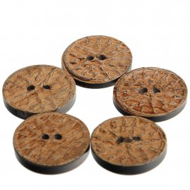 Buffalo Horn Buttons, set of 5 pieces