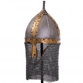 Russian medieval helmet with aventail Boyar