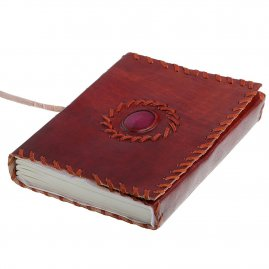 Leather-Bound historical Journal with Gemstone