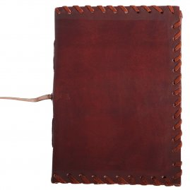 Leather-Bound Journal with Border Stitching