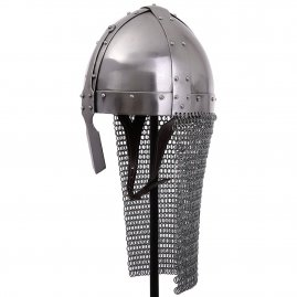 Norman Nasal Riveted plate Helm with Aventail