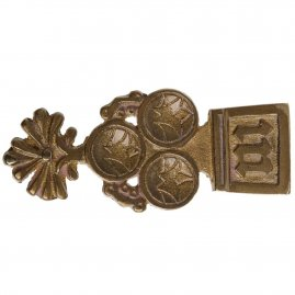 Middle Ages Trefoil Brass Belt Chape
