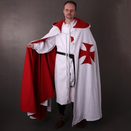 Templar Cape with Hood made of heavy cotton