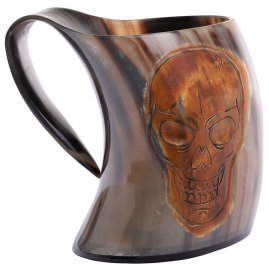 Pirate Ale Horn Tankard with Engraving
