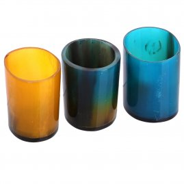 Coloured Viking Horn Shot Glass, set of 3