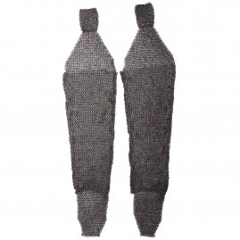 Chainmail Chausses / leggings from flat wedge riveted rings