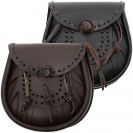 Leather Sporran with Tassles