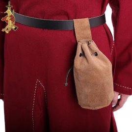 Medieval Pouch from Suede Leather