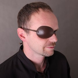 Pirate Captain Leather Eye Patch Brown