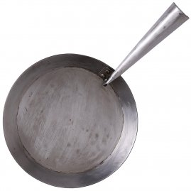 Iron Hand Forged Folding Pan Large 24cm