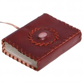 Leather-Bound Medieval Diary