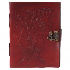 Leather Journal with Embossed Tree of Wisdom