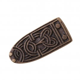 Viking Belt End with Antique Brass finish