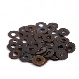 Brass Washers ø8.5mm for riveting, Antiqued - Set of 50