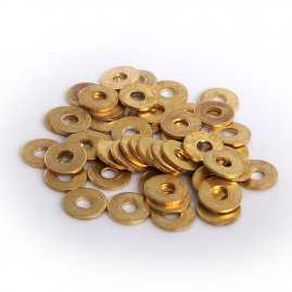 Brass Washers - 11mm wide, 4mm hole. set of 50