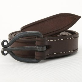 Gothic belt with a wrought buckle in Celtic style