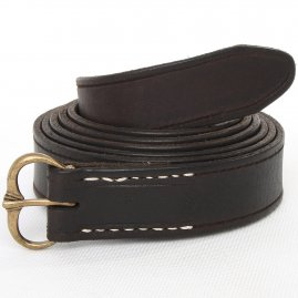 Leather belt Smil