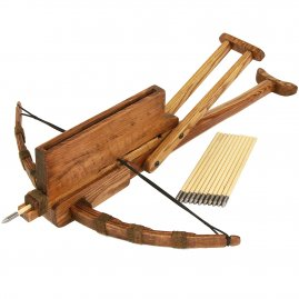 Chinese repeating crossbow Chukonu with 12 Arrows