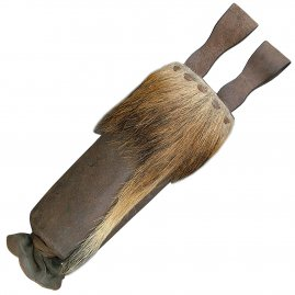 Crossbow bolts quiver with wild fur