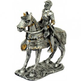 Knight on horse statuette