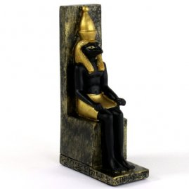 Statuette Horus on throne