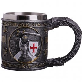 Beer mug Templar in a white coat 200ml