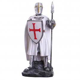 Figure Templar Knight in a white coat 18cm