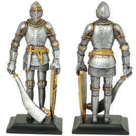 Knight holding a falchion, figure