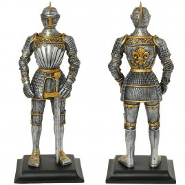 Renaissance knight in a gilded armor, figure