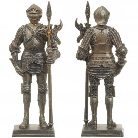 Resin Statue Knight Guard with halberd, 18 cm