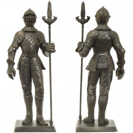 Statue of a knight with Italian trident, 65 cm