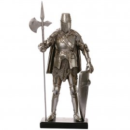 Figure Knight with halberd and shield