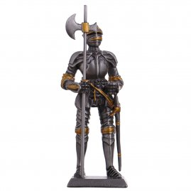 Toy Tin Soldier Medieval Knight with halberd and sword 105mm