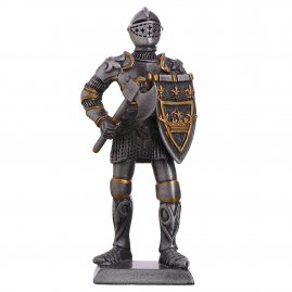 Toy Tin Soldier Medieval Knight with war axe and scutcheon 105mm